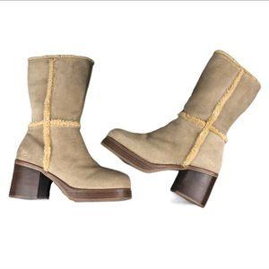 Vintage 90's Suede Skechers Ladies Boots Size 11